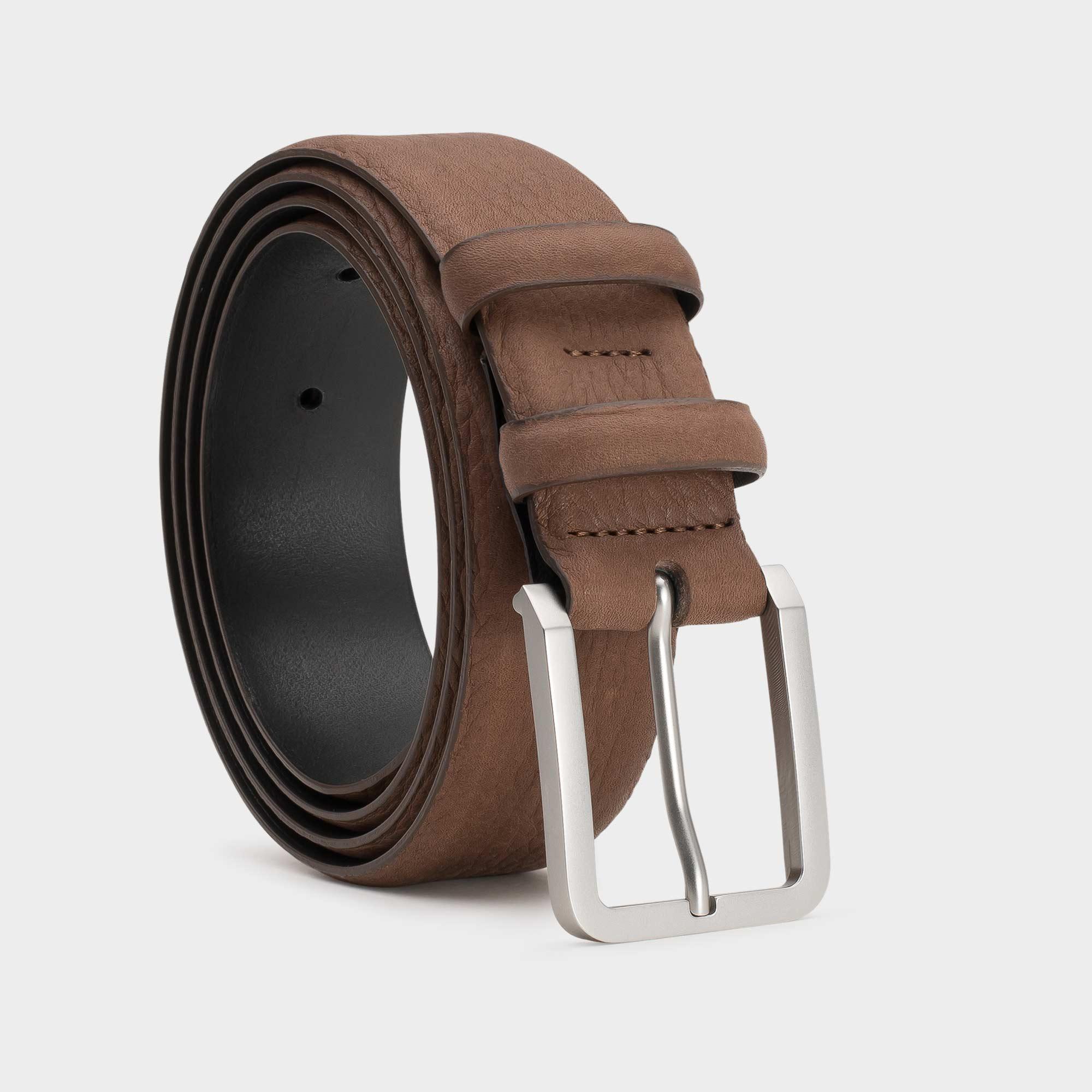 Handgemachter Ledergürtel Für Herren Braun Mathis Dalgado