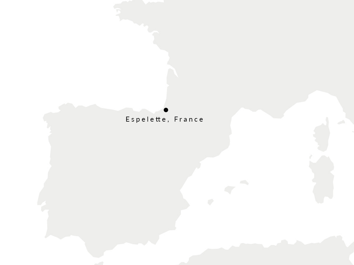Map showing the location of our French tannery.