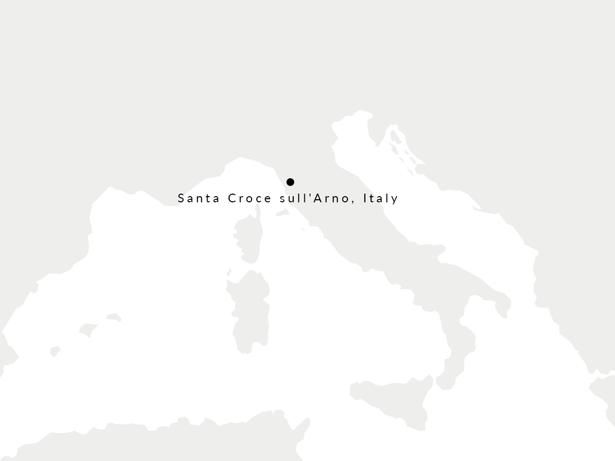Map showing the location of our Italian tannery.