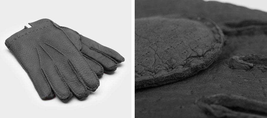 Unsere handgemachten Peccary Leder Handschuhe