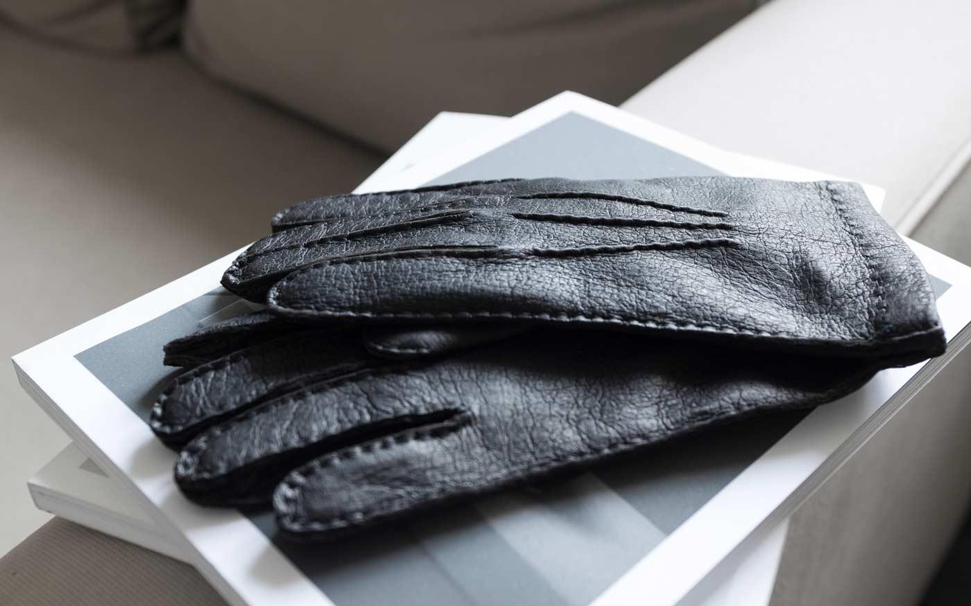 Peccary-Leder Handschuh Ciro