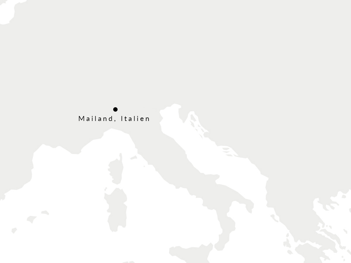 Karte, die den Ort unserer mailänder Gürtelmanufaktur zeigt