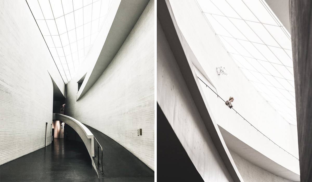 Innenansichten des Kiasma Museum in Helsinki.