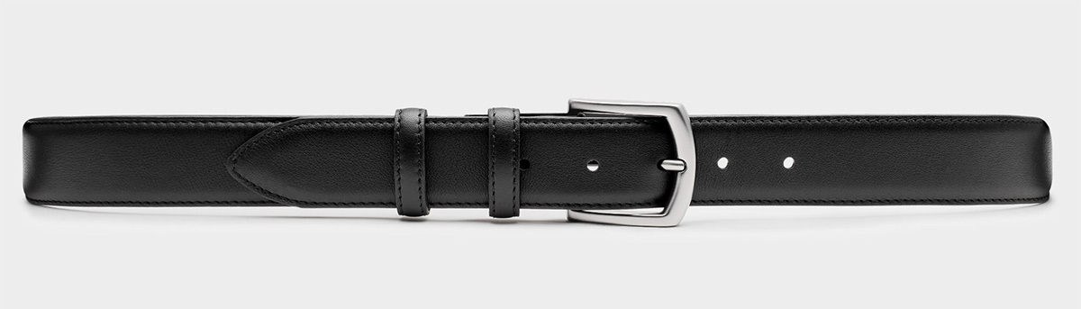 Fernando - Handgemachter Ledergürtel Schwarz