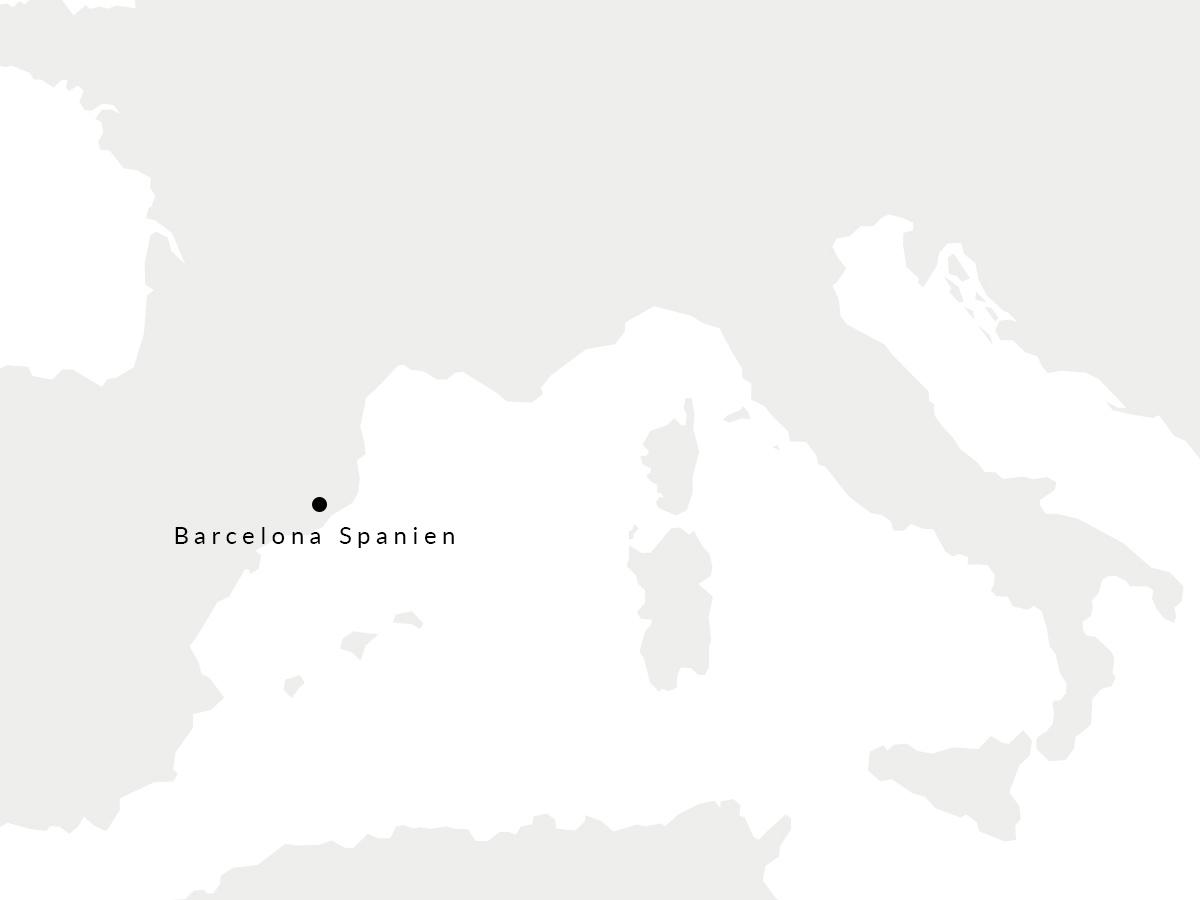 Karte auf der unsere spanischen Gerberei eingezeichnet ist.
