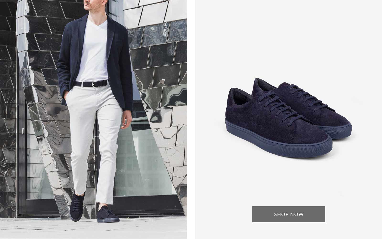Alfredo Veloursleder Sneaker blau