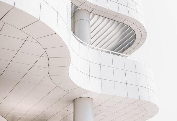 Modernes minimalistisches Gebäude