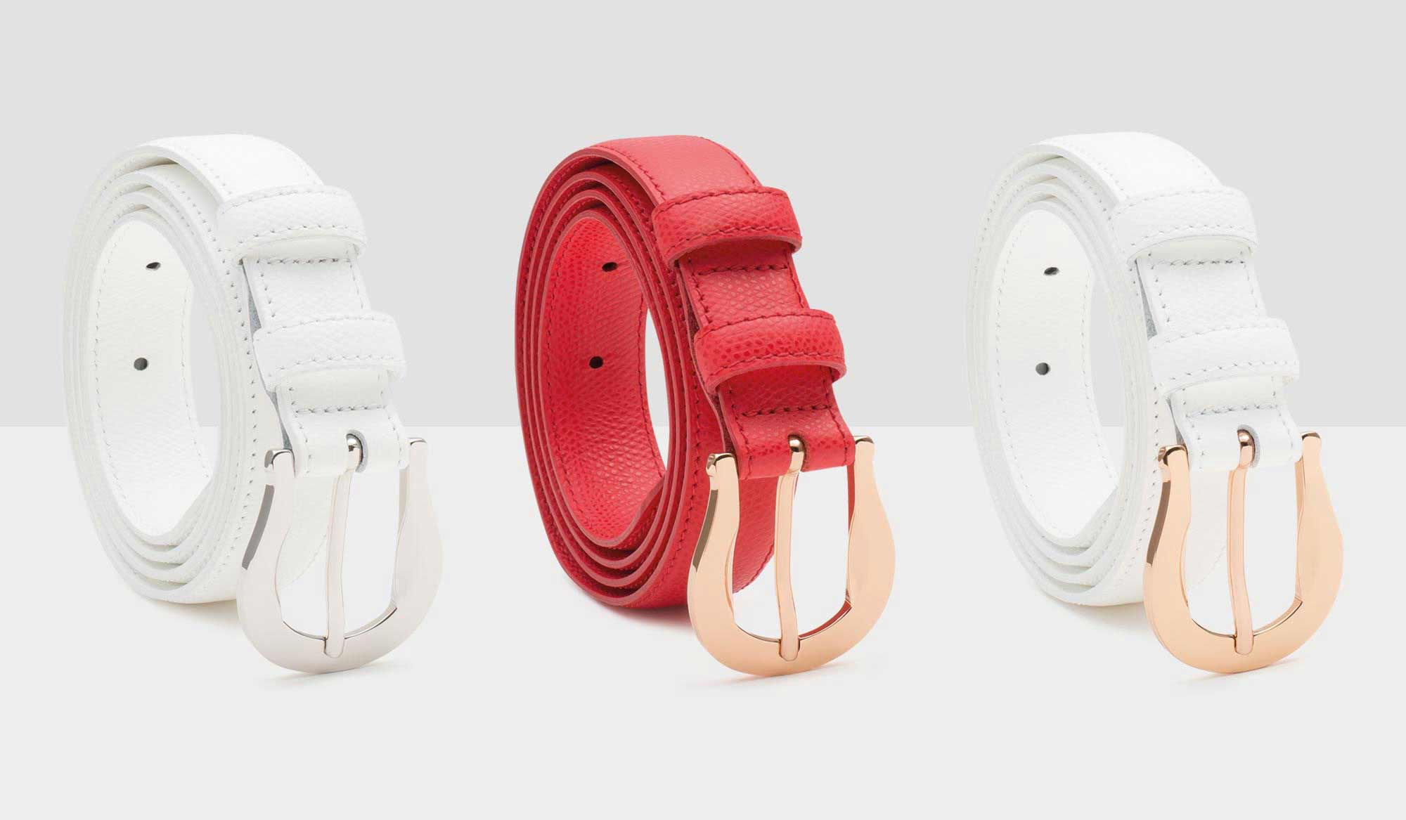 Three of our classic Palmellato leather belts