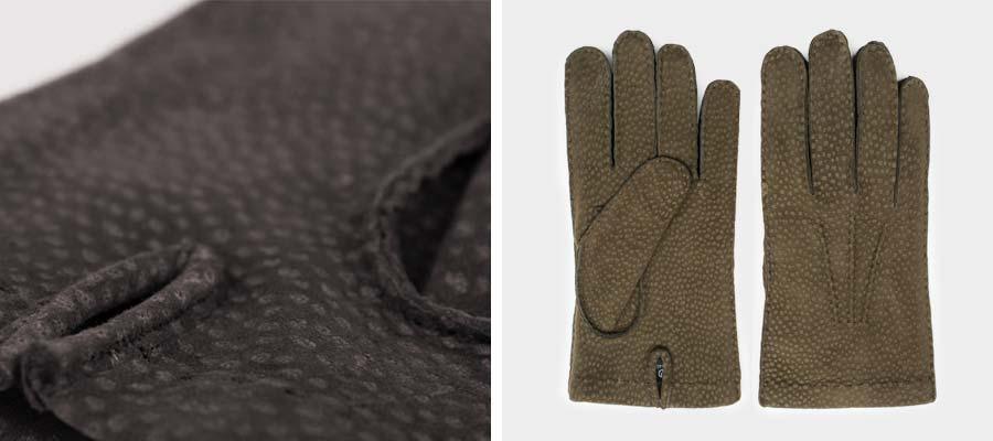 Unsere handgemachten Carpincho Handschuhe