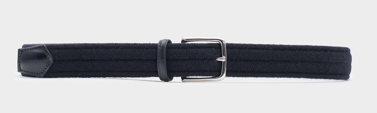 Wool Belt Fabiano Blue