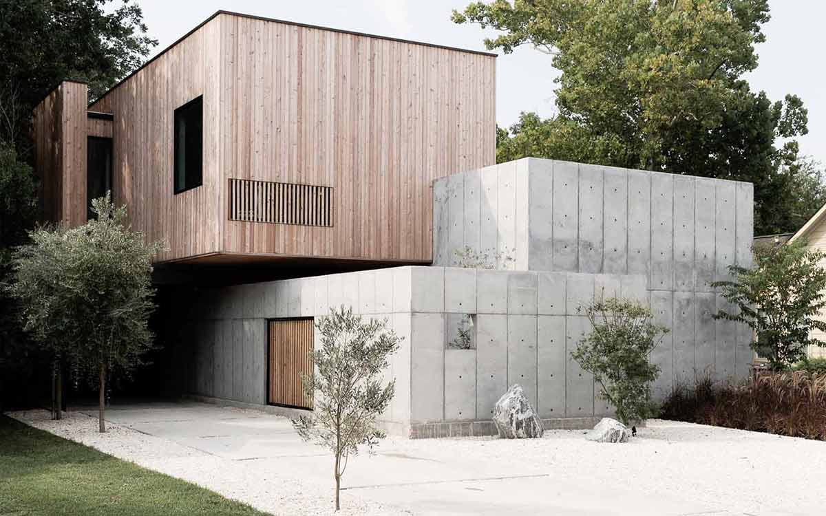 Minimalist Concrete Box House