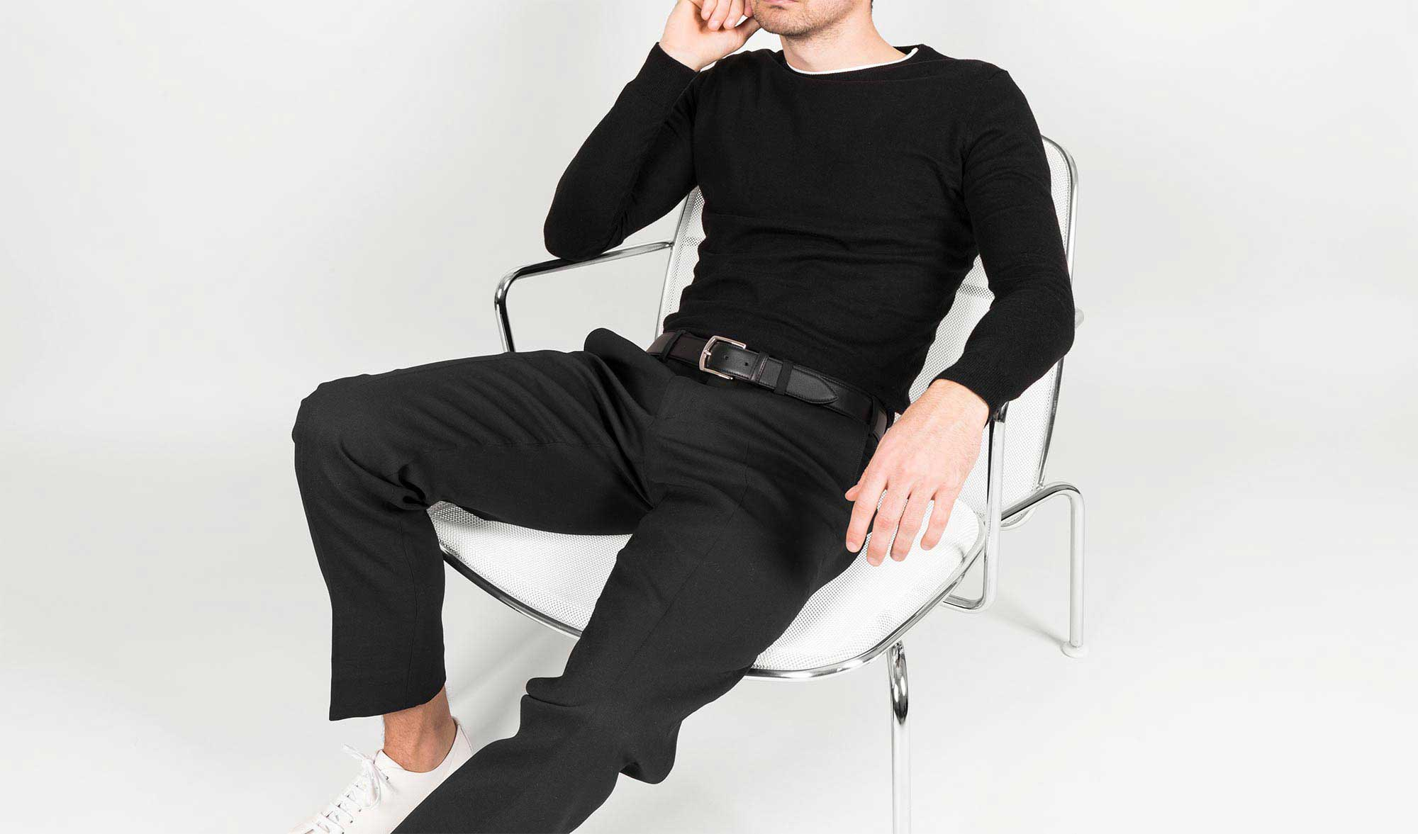 Unser klassischer Ledergürtel Roberto