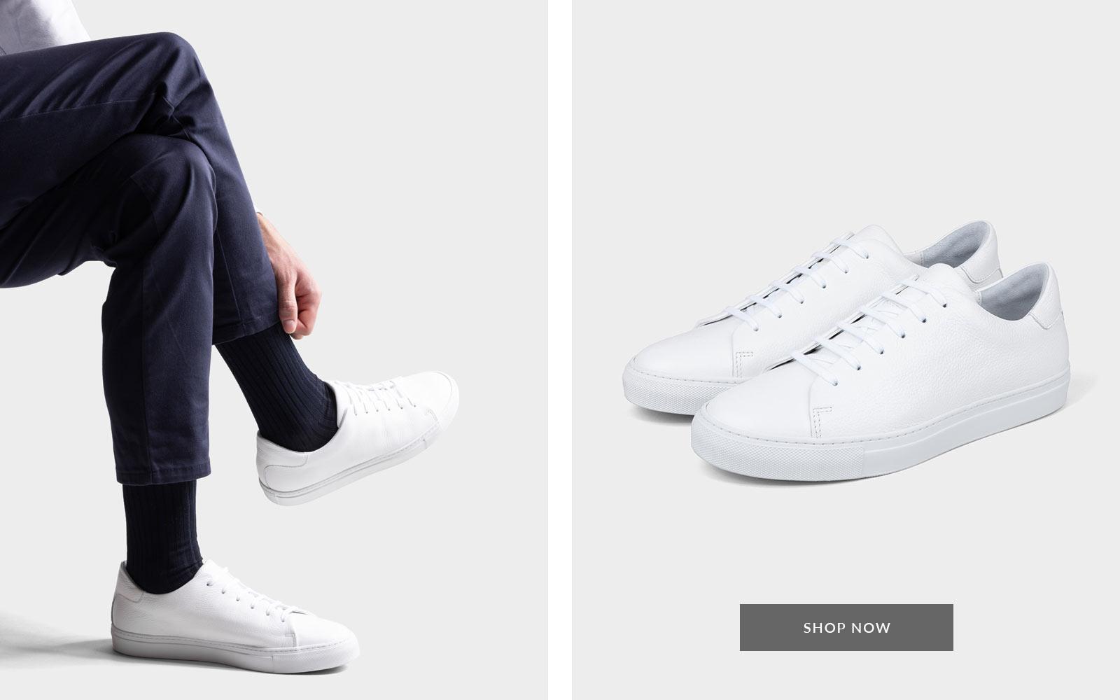Weißer Sneaker Pierre