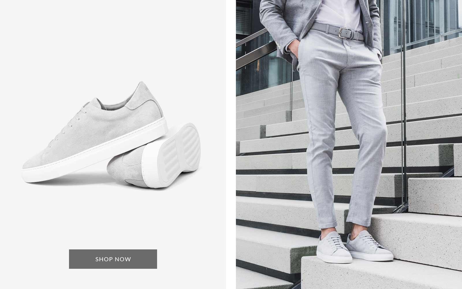Norberto Veloursleder Sneaker grau