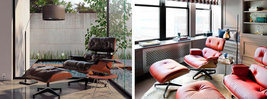 Eames Lounge Chairs By Charles And Ray Eames