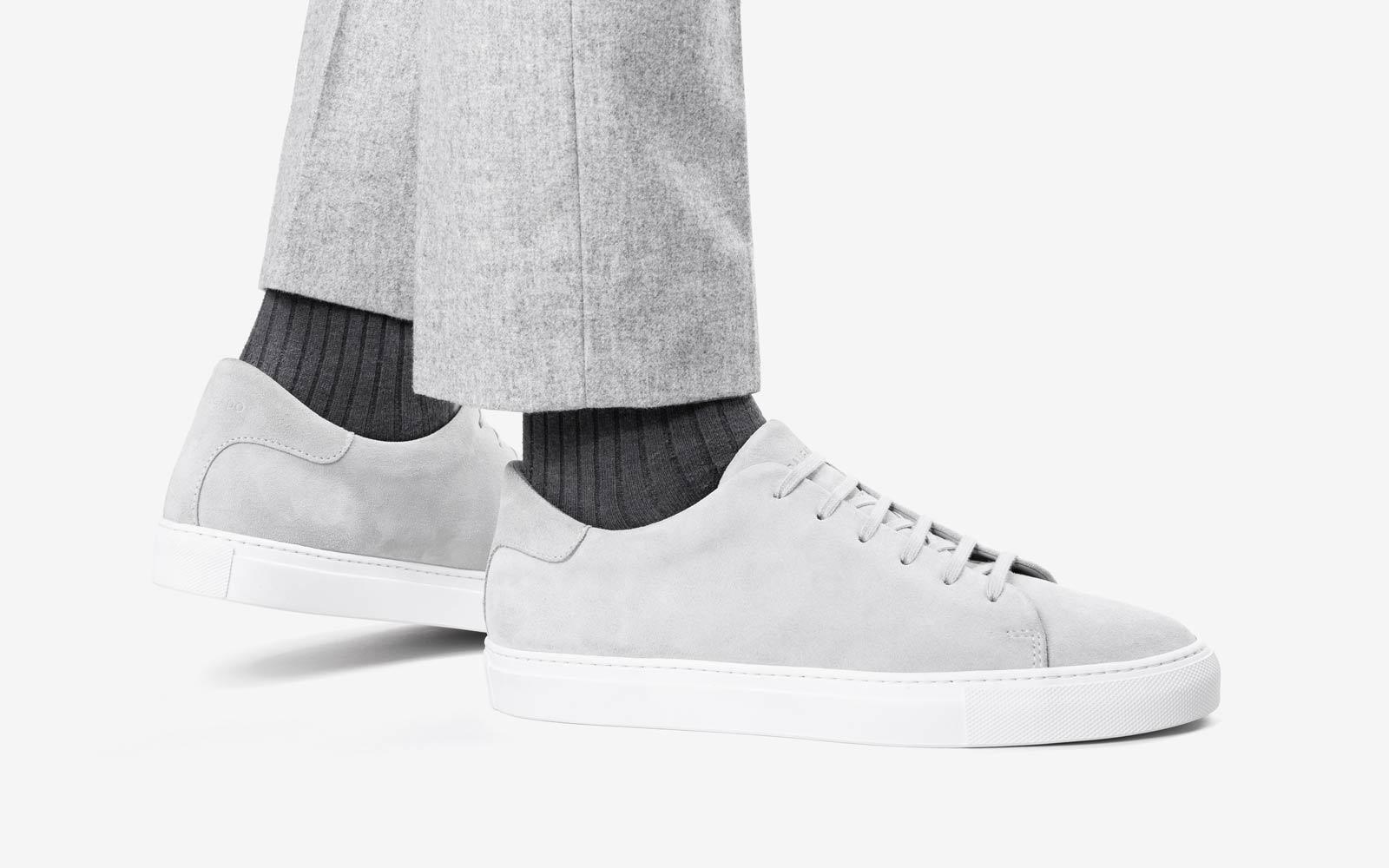 Norberto Light Grey Suede Sneaker