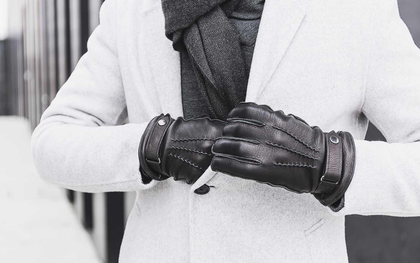 Alessio - Hirschleder Handschuh schwarz