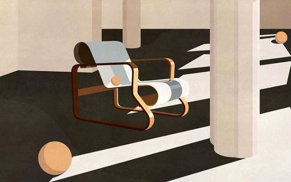 Architektonische Illustrationen von Charlotte Taylor